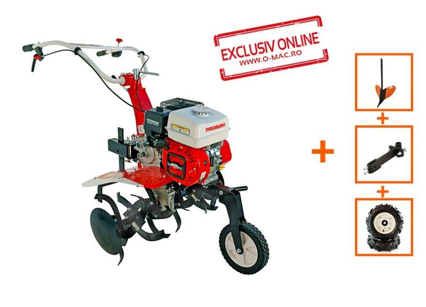 MOTOCULTOR PRORUN PT-750A 7CP CU ROTI 4.00x8 + RARITA + SUPORT