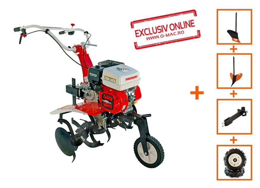 MOTOCULTOR PRORUN PT-750A 7CP CU ROTI 4.00x8 + PLUG + RARITA + SUPORT