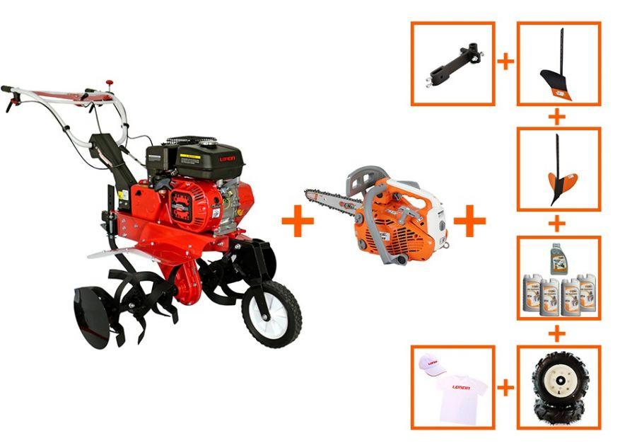 MOTOCULTOR LONCIN PT-900A 7CP +  DRUJBA O-MAC 2500 + ACCESORII + PROMO